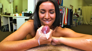 Mom masterbates son with her hands and the mouth during hot home XXX