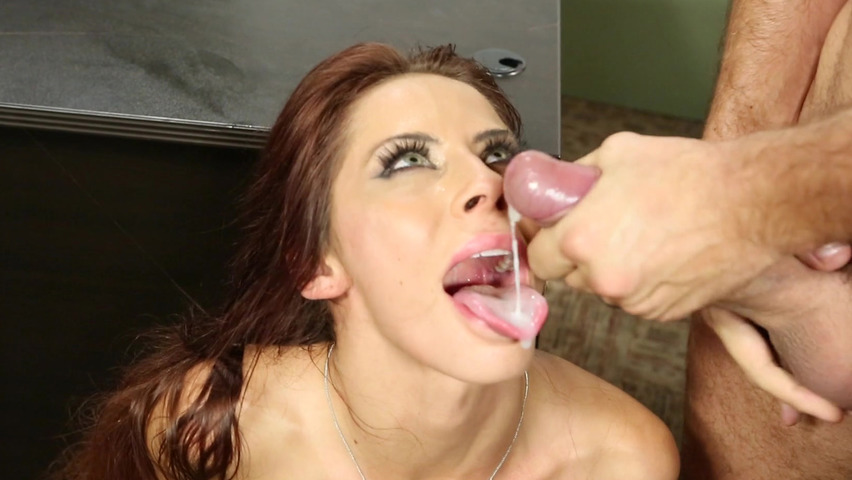 Hot mom cum swallowing