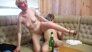 Drunk mom fucked in serious manners by horny guys at the club