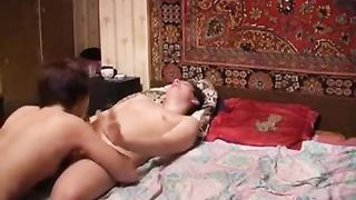 Lusty mommy performs a hot blowjob for a son