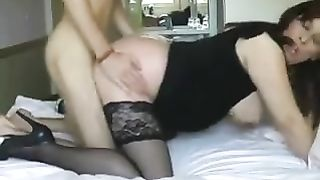 Real mom son incest caught on cam when a young lad penetrates mommy