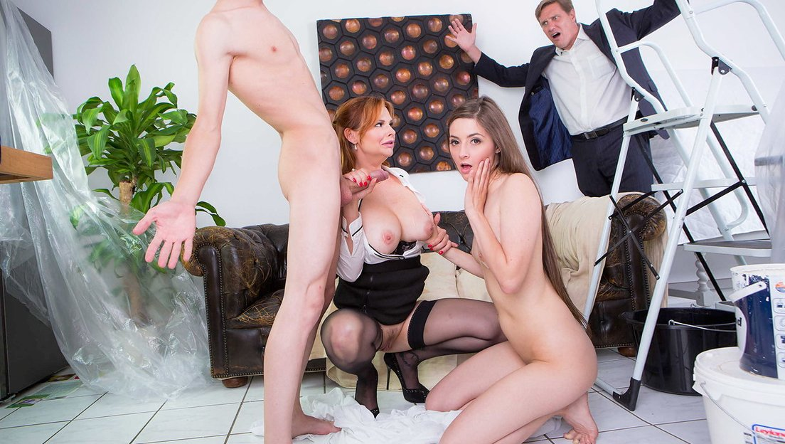 Hot MILF teaches her stepdaughter how easy it is for women to get some  cock! - XXX FemeFun