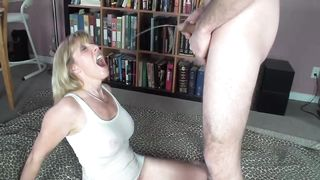 Mom sucking cock in extra sloppy manners while being filmed in secret