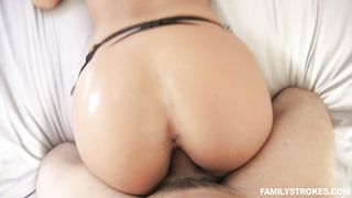 Hot daughter is getting her tight pussy stretched by her step dad