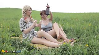 Daughter Fuck Drunk Mом At a Picnic Outside the City