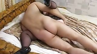 Mom swallows son in a heavy duty cock sucking porn experience on cam