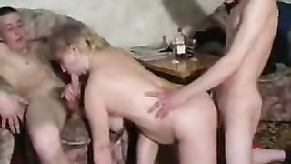 Real mom blowjob scenes on horny son's big cock in super hot home video