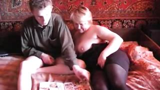 Son creampies mom in insane scenes after fucking her pussy big time