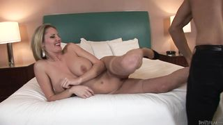 Mom in lace Zoey Holiday gets fucked in a hotel bed