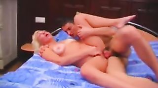 Real mom and son porn video with the milf working hard on the inches