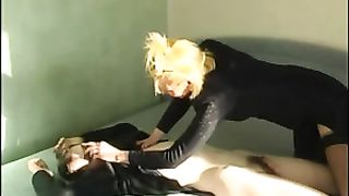 Mom rapes son with huge strapon toy and enjoys severe femdom XXX