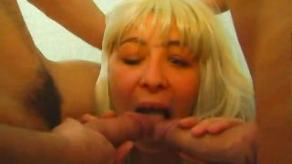 Horny son rapes mom with brutality and in the end cums on her face