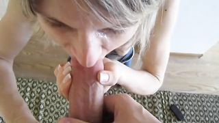 Real mom blowjob porn with a hot mature and her horny step son