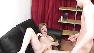 Mom forced anal leads to insane orgasms after mommy sucks dick dry