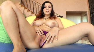 Lovely mom rubbing her clit she digs deep within her moist, tender pussy