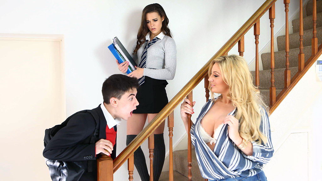 Naughty Blond Teacher Fucks Horny Student