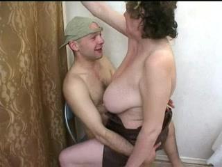 Hot naked blonde having hard core butt sex