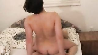 Son creampies mom with huge cumshot while penetrating her wet pussy