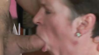 Mom caught naked while son watches and gets horny from her MILF body