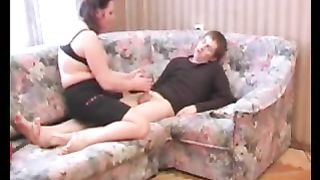 After hot fucking session son cums on mom with a big load and she loves it