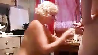 Drunk mom and son enjoy some hot fucking before he cums all over her
