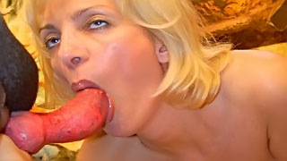 Watch a [ dog fuck mom ] as she moans and screams with that animal dick inside