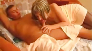 Moms pussy makes young step son to feel amazing when fucking her hard