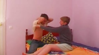 Mom blows son in exclusive scenes of amateur incest porn at home