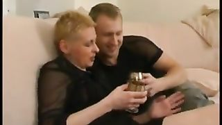 Mom shows son her pussy in a sexy home play while both aroused