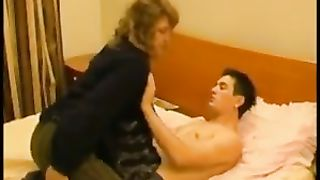Son shows off masturbating in front of mom while the woman moaning