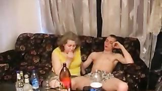 Drunk mom and son amateur sex tape with insane fucking and oral sex
