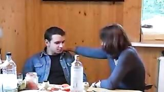 Fucking my drunk mom while she doesn't recognize my face as i go down on her