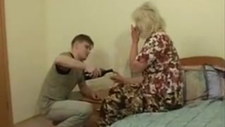 Drunk mom incest pounding in her throat and fingering her gaping asshole