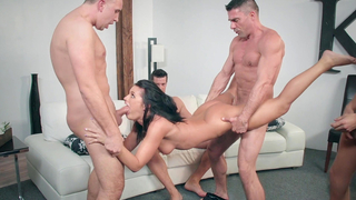 Strong XXX content to show brothers gangbang sister in her tiny holes