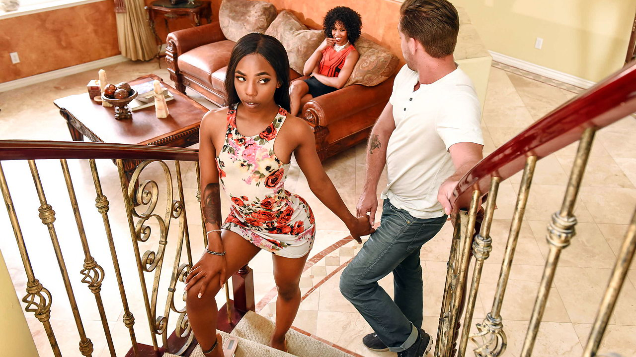 Black Mom Daughter Share Dick