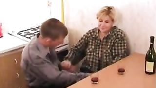 Son fucks drunk mom while the wasted slutty milf asks for his cumshot