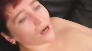 Mom swallows sons cum load to the last drop after hot and sloppy blowjob