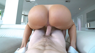 Round ass latina hottie sexy daughter rides a schlong