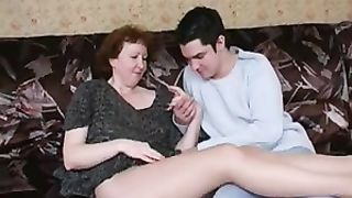 Dirty mature welcomes son's cock in pussy in real mom and son incest porn
