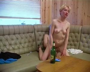 Naked yard work amateur