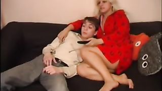 Drunk mom enjoys incest sex with her son enjoys pussy eating and pounding