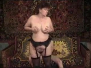 Mature mother fucked in stockings
