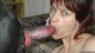 Two girls blowjob cum and swallow dog XXX porn