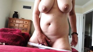 Chubby Mother Masturbates! I couldn't stop cumming, came 3 times very quickly!