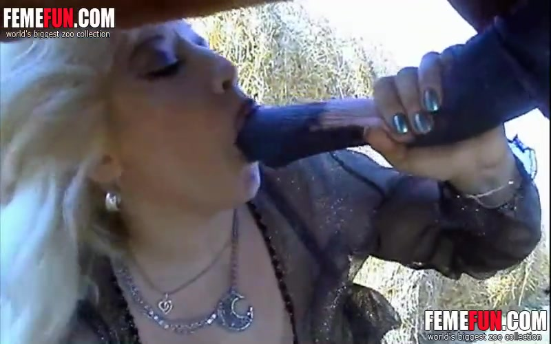 Blonde Teen Sucking Big Cock