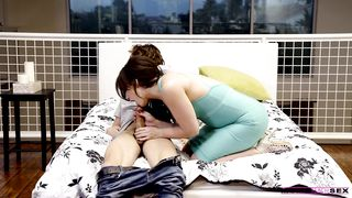 Sex-starved mom invites her son for sex and sucks his big dick in a mom teach sex scene