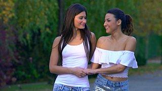 Twins lesbian sister, taste the Rainbow