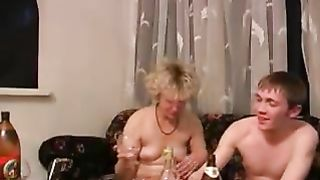 Crazy drunk mom fucks with her spoiled son enjoying incest fucking and getting really pleasured