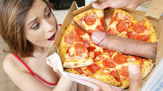 Naked Blonde Girl Sucks And Rides Pizza Guy Big Cock