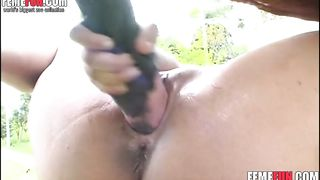 Kinky girl provides her narrow pussy for a horse's giant dick enjoying beastiality sex